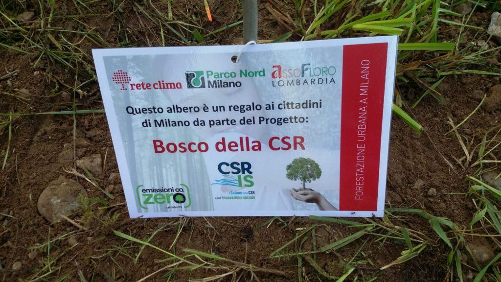 Promessa mantenuta: è nato il Bosco della CSR