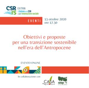 Obiettivi e proposte per una transizione sostenibile nell'era dell'Antropocene