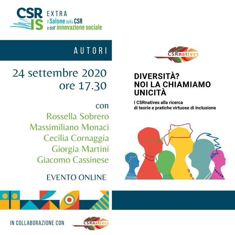 """""""Diversità? Noi la chiamiamo unicità"""" di CSRnatives Network"""