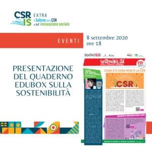 Presentazione del quaderno EduBox sulla sostenibilità