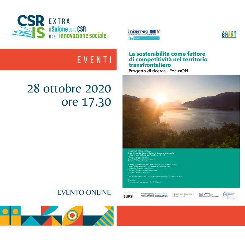 La sostenibilità come fattore di competitività nel territorio transfrontaliero