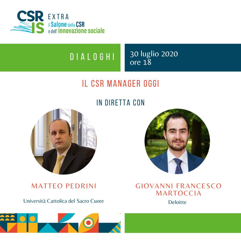 Il CSR manager oggi