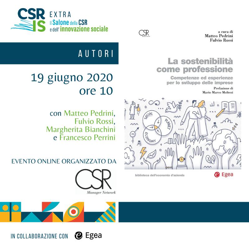 """""""La sostenibilità come professione"""" di CSR Manager Network"""