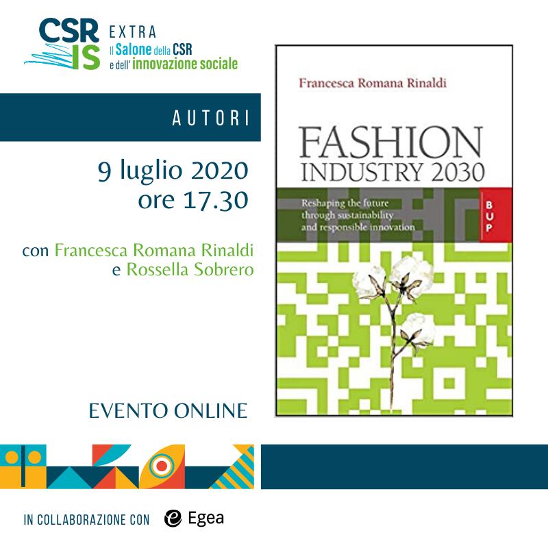 """""""Fashion industry 2030"""" di Francesca Romana Rinaldi"""